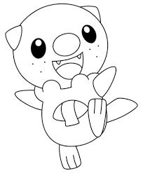 oshawott pokemon coloring free printable coloring pages