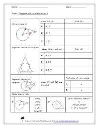 tangent ratio classwork worksheet sd43