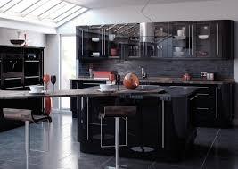 High Gloss Black Kitchen Cabinets Kitchen Cabinets Nassau County High Gloss Thermofoil Cabinet