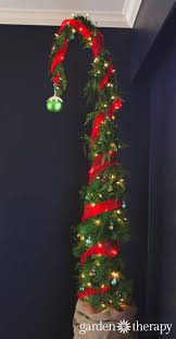 how to make a nine foot grinch tree garlands shapes and grinch