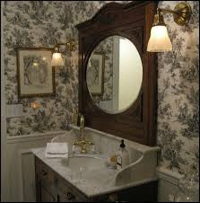 Toile Bathroom Wallpaper by Love Toile I Would Prefer Silver Accessories And A Black Or White