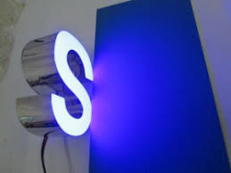 china 3d dimentional front lit epoxy resin led channel letter sign