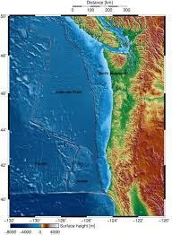 physical map of oregon juan de fuca plate northwest s next big earthquake source mapped juan de fuca plate