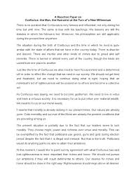 sample of reaction paper essay a reaction paper on confucius confucius thomism