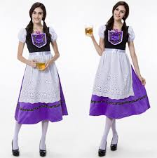 Bavarian Halloween Costumes Oktoberfest Maid Beer Waitress Cosplay Cotumes 2016 Bavarian