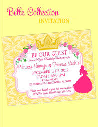 invitation beauty and the beast inspired party parties