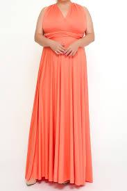 long infinity dresses plus size dresses peach coral xxl to 5xl
