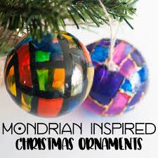mondrian inspired ornaments for to make