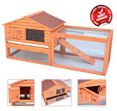 Large Ferret Cage Deluxe Rabbit Hutch Chicken Hen Coop Chinchilla Rat Guinea Pig