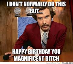 Happy Birthday Bitch Meme - funny happy birthday meme google search birthday stuff