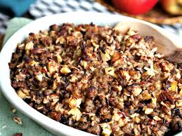 apple turkey recipes thanksgiving wild rice jones sausage u0026 apple stuffing simply sated