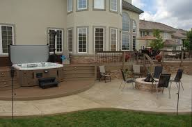 Outdoor Deck And Patio Ideas Curved Composite Deck Patio Denver By Rolling Ridge Deck