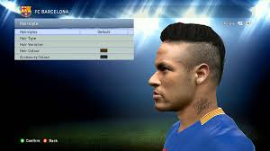 neymar hairstyle name neymar pes 2015 face hairstyle update 2015 youtube