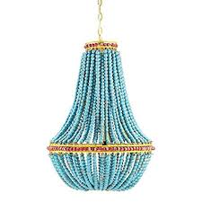 turquoise beaded chandelier wood bead chandelier