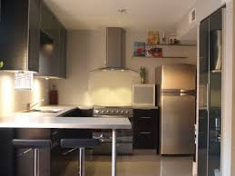 minimalist farmhouse kitchen decor with silver refrigerator and u