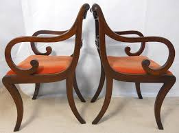 Antique Regency Dining Chairs Of Six Mahogany Dining Chairs In The Antique Regency Style