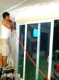 sliding glass doors open both sides diy install patio door in brick or limestone wall