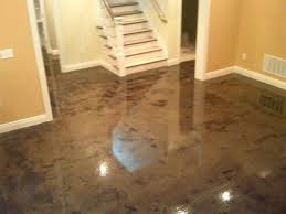 Basement Floor Stain by Stain Concrete Basement