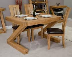 z shape solid oak 4x3 dining table oak furniture uk