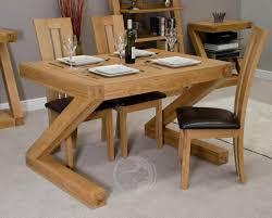 oak wood dining table z shape solid oak 4x3 dining table oak furniture uk
