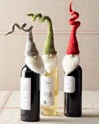 felted wine bottle cover with a by cckittenknits