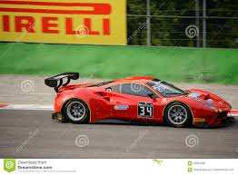 first ferrari race car blancpain gt series ferrari 488 racing at monza editorial stock