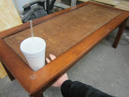 replace glass in coffee table with something else coffee table replacing glass coffee table top with tile framing the