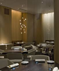 small restaurant interior design ideas with brown colors and some