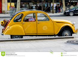 old citroen the old yellow citroen 2cv editorial image image of simple 70362540