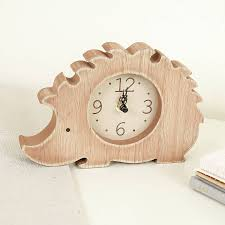 children u0027s bedroom hedgehog wooden clock by bebe beau