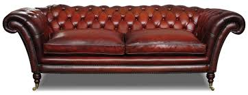 Victorian Chesterfield Sofa For Sale by Victorian Leather Chesterfield 3 Seat Sofa In Hand Dyed Hide
