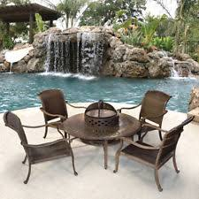 Patio Tables With Fire Pit Fire Pit Patio Set Ebay