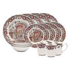 vintage thanksgiving dinnerware amazon com johnson brothers 16 piece his majesty dinner set