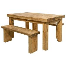 Rustic Bench Dining Table Dining Table And Benches Rustic Wood Funky Chunky Furniture