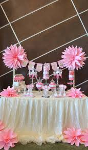 Pink Wedding Candy Buffet by By Tasty Tables Pink Candy Buffet Pink Flowers Paper Flowers