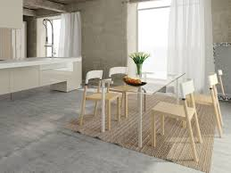 6 Seater Wooden Dining Table Design With Glass Top 40 Glass Dining Room Tables To Revamp With From Rectangle To Square