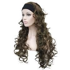 headband wigs strongbeauty women s long curly hair 3 4 wigs black blonde women s