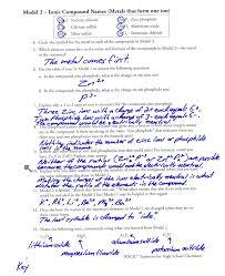 naming chemical compounds worksheet answer key worksheets