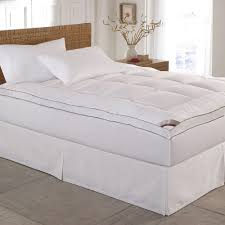 Bed Bath And Beyond Feather Bed Topper Fieldcrest Luxury Down Alternative Mattress Topper White