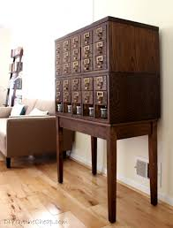 Library Catalog Cabinet Mid Century Desk Bargain Craigslist Find Erin Spain
