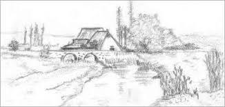 image gallery landscape pencil sketches