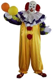 clown jumpsuit deluxe it pennywise horror clown costume gh 25233 karnival