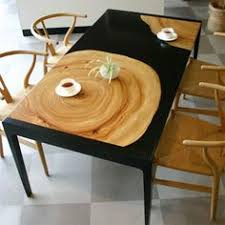 Unique Pairings Of Materials Revolving Around Wood Concrete - Cool kitchen tables