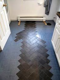 diy herringbone floor peel n stick luxury vinyl tile http