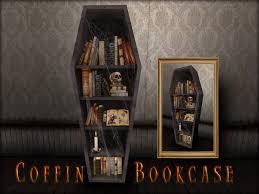 coffin bookshelf second marketplace boudoir coffin bookcase