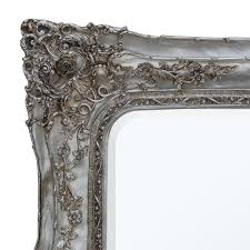 Bevelled Floor Mirror by Rosetti Baroque Double Frame Antique Silver Large Wall Floor