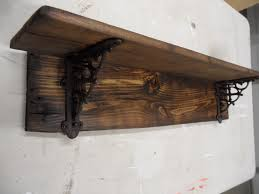 Wooden Wall Shelves Wood Wall Shelf With Brackets