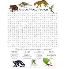 rainforest games and worksheet activities the rainforest