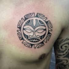 taino tribal sun tattoo on man chest taino tribal sun tattoos