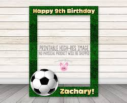 Photo Booth Equipment Printable Soccer Photobooth Frame Football Photo Booth Frame